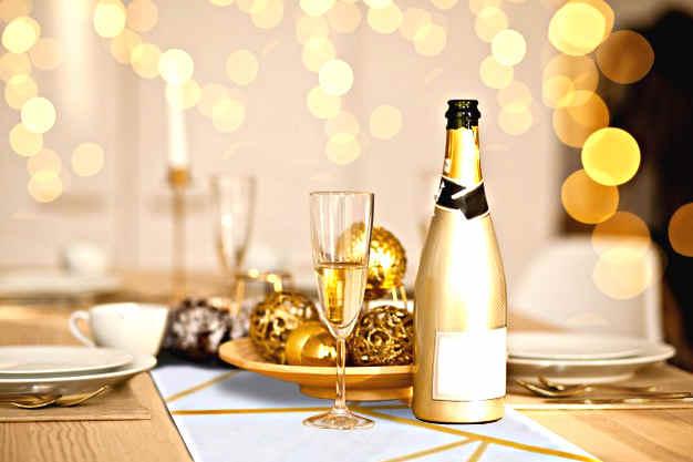 decoration table mode pour reveillon 31 decembre