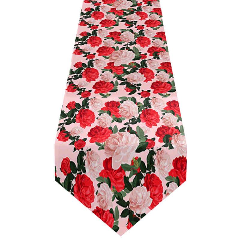 Chemin de table romantique rose