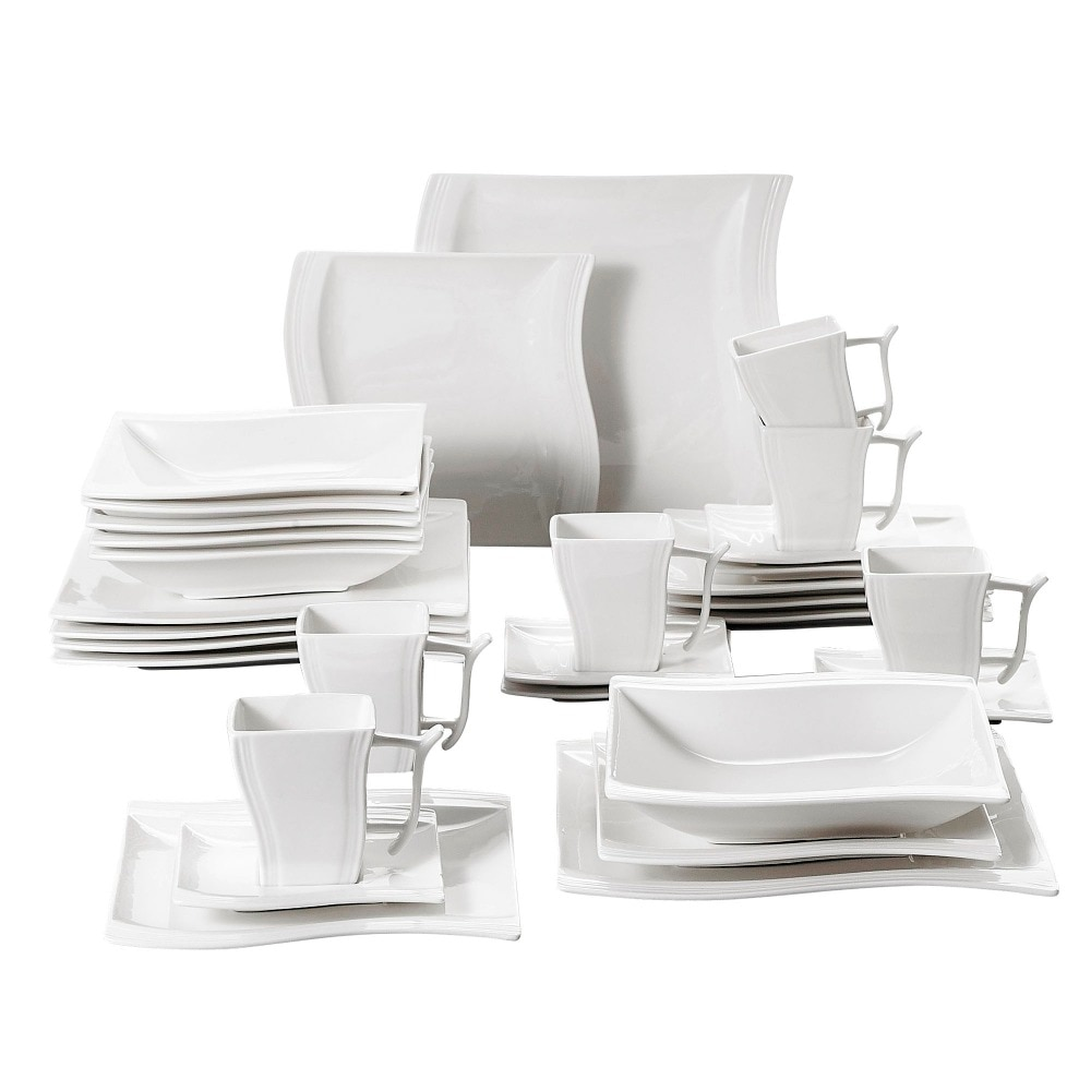 Service de table en porcelaine blanche