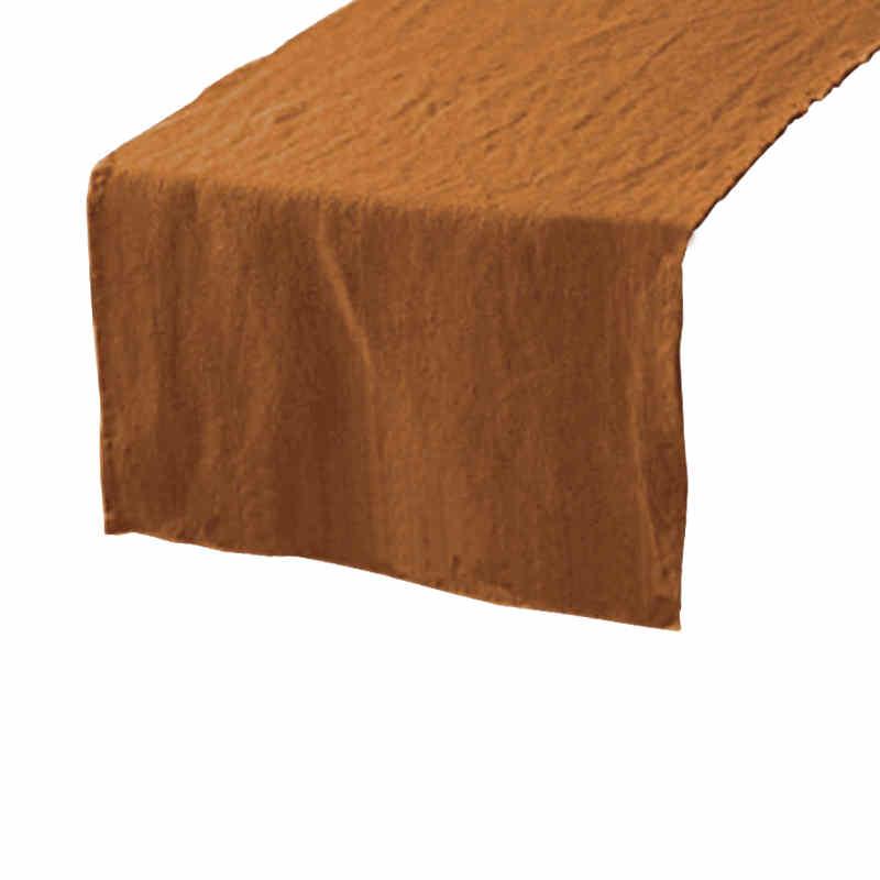 Chemin de table en lin marron