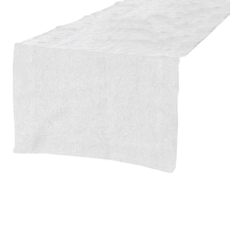 Chemin de table en lin blanc