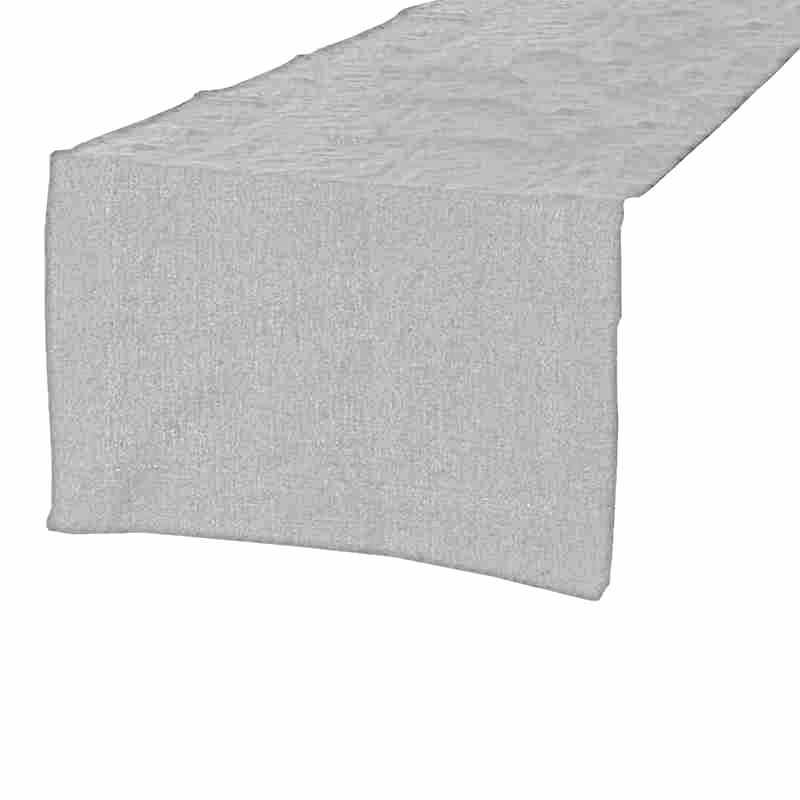 Chemin de table en lin gris