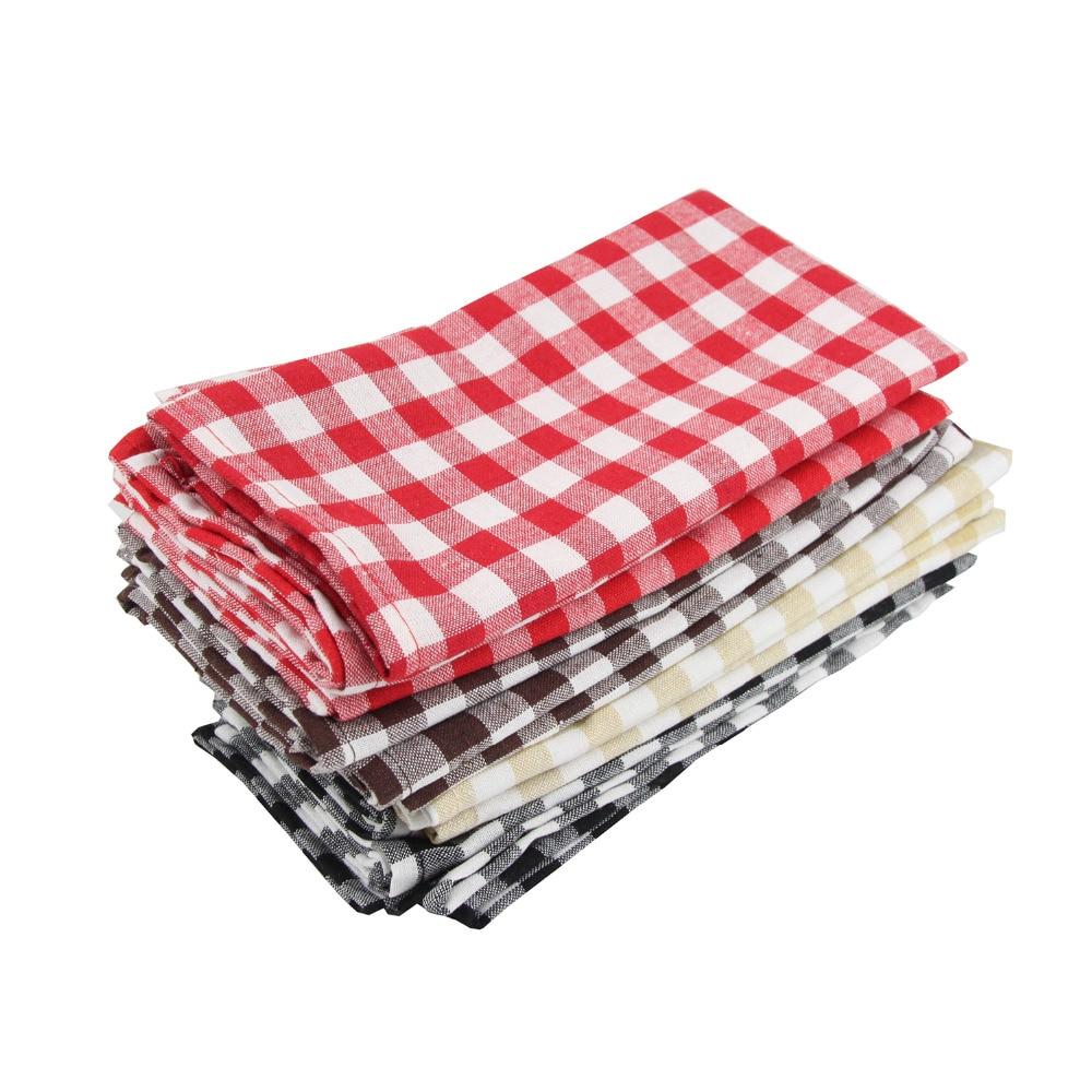 Serviette de table à carreaux (x12)