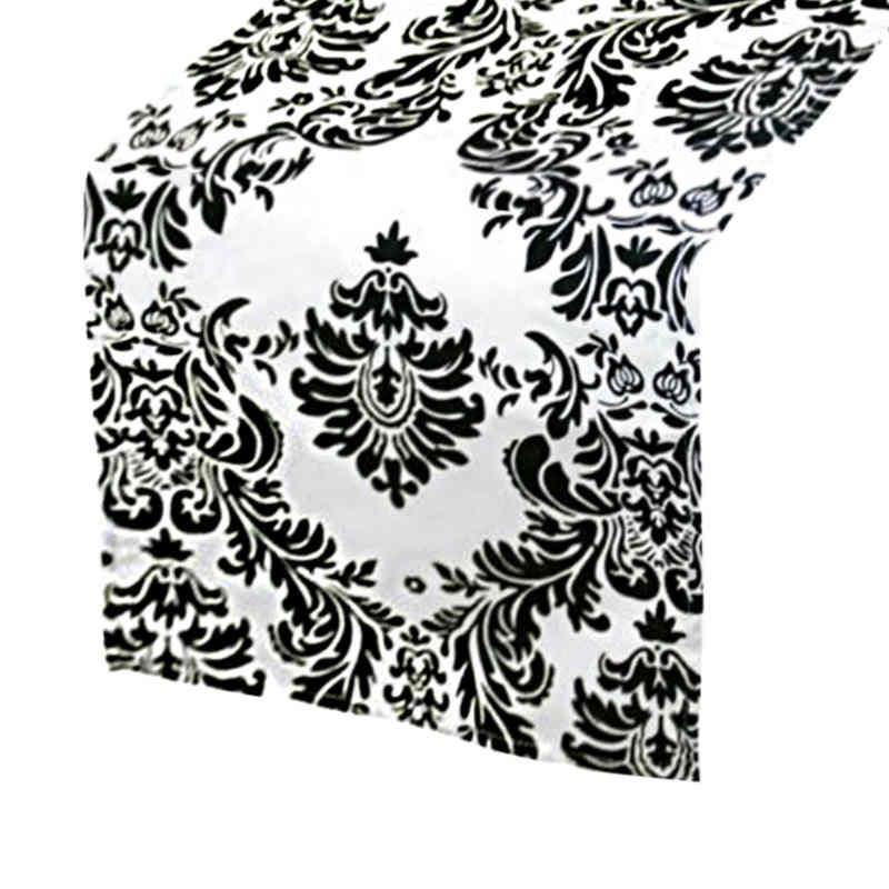 chemin-de-table-baroque-noir-et-blanc