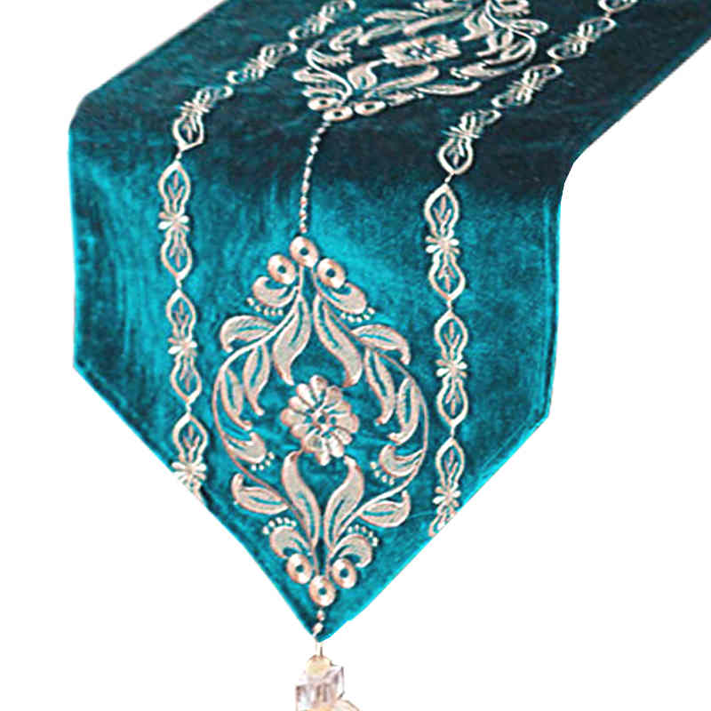 chemin-de-table-arabesque-turquoise
