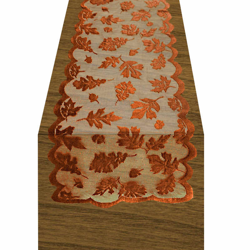 chemin-de table-dentelle-marron