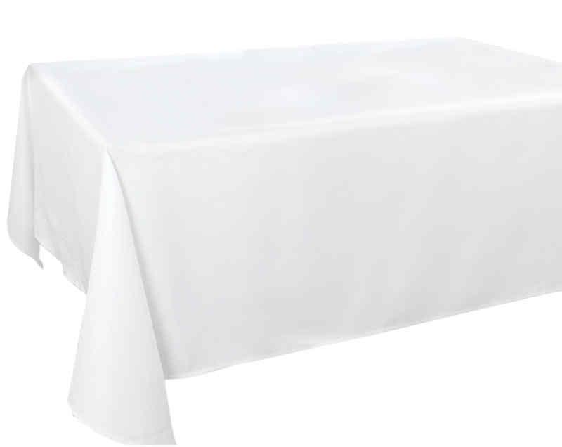 Nappe rectangulaire en tissu blanc