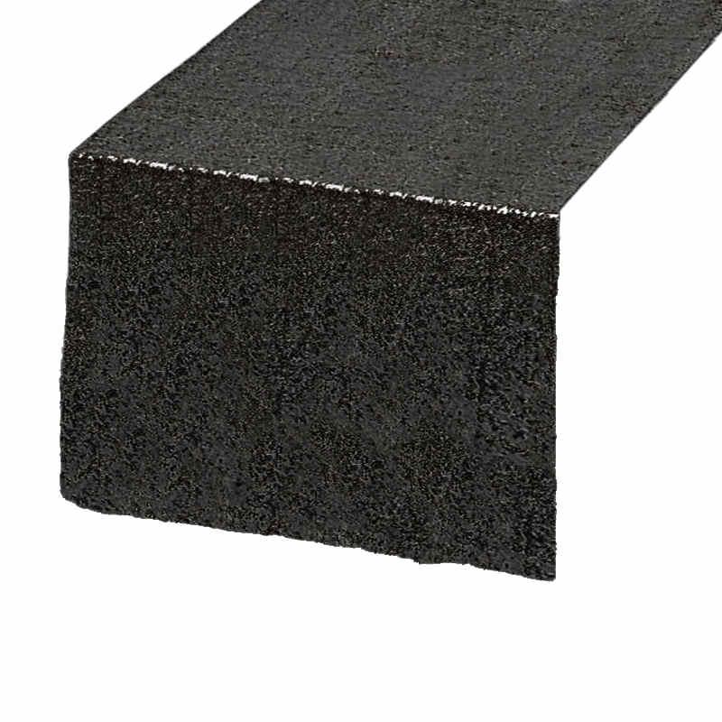 chemin-de-table-sequin-noir