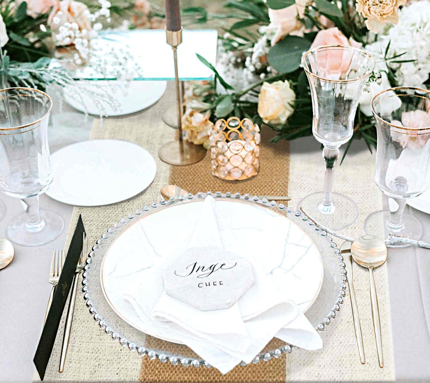 decoration de table mariage champetre chic