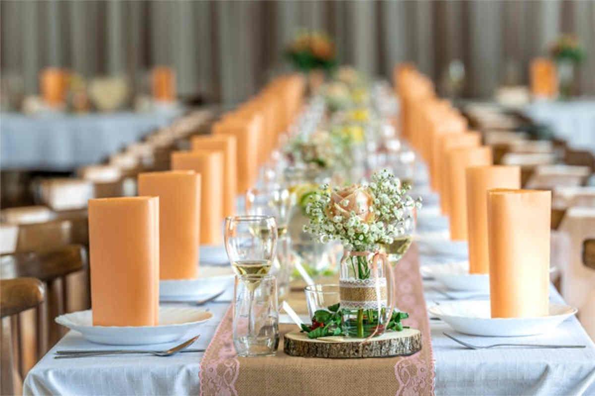 Décoration de table mariage champêtre chic