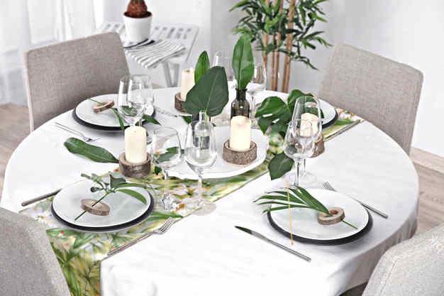decoration de table iles tropicale