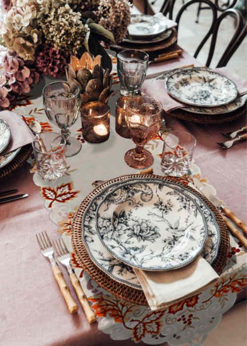 Déco table anniversaire thème automne