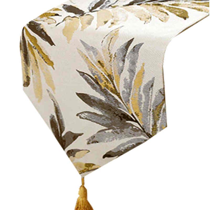 chemin-de-table-feuille-de-palmier-dore