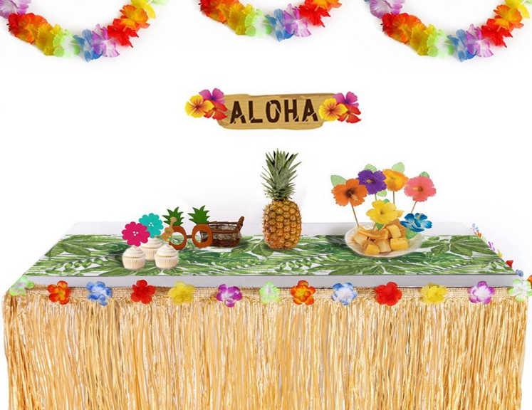 decoration de buffet style tropical