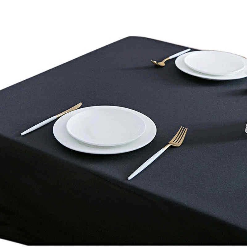 Nappe de table rectangulaire noire