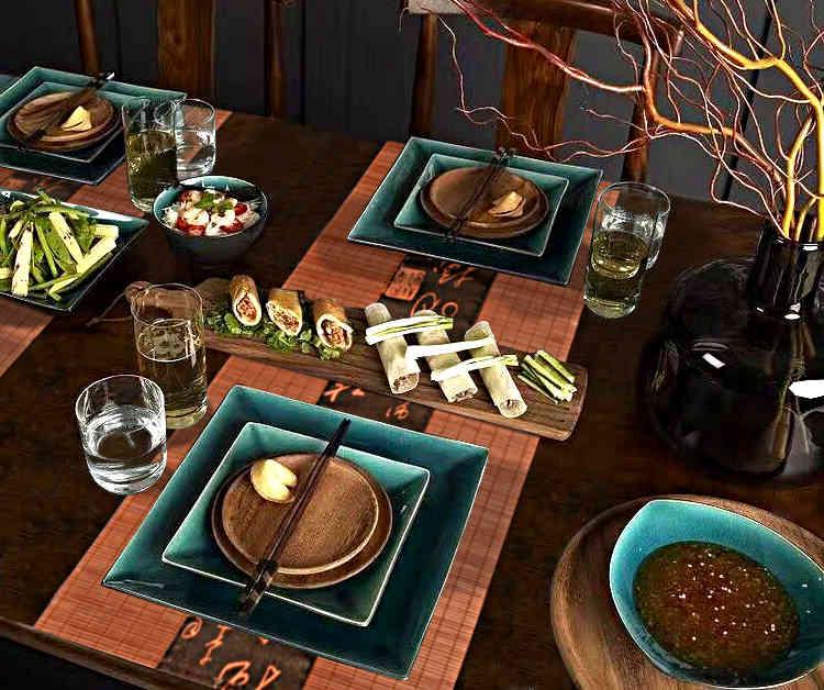 décoration de table pour nouvel an chinois