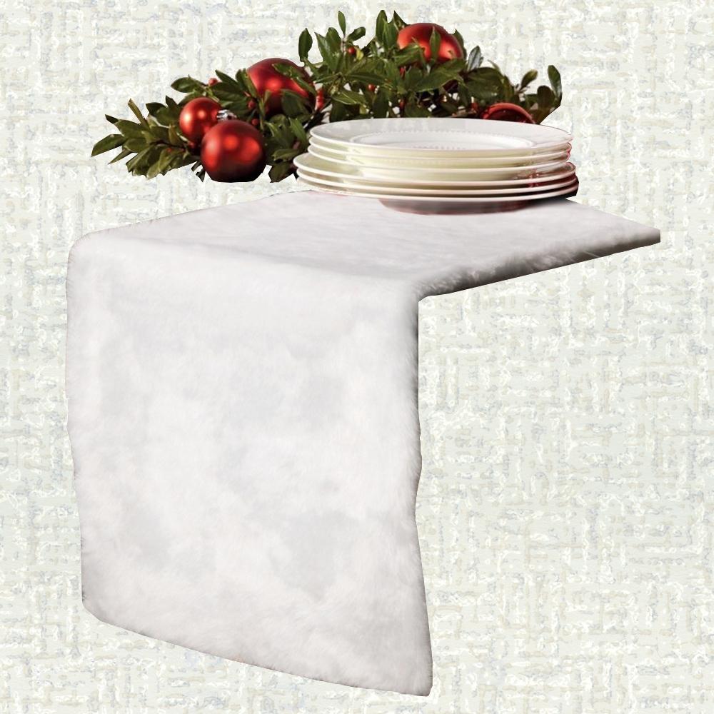 Chemin de table Noël blanc