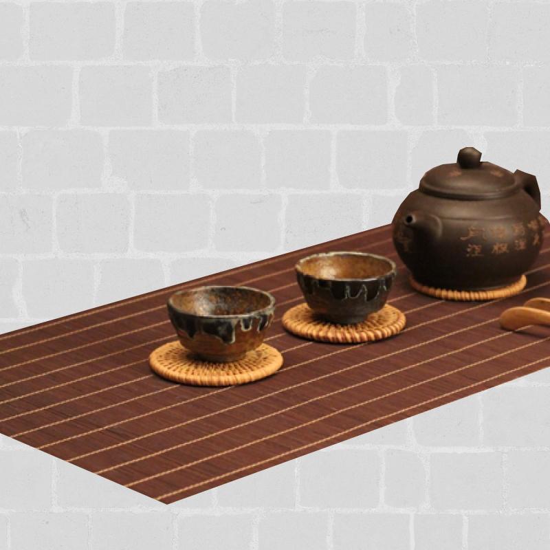 Chemin de table bambou marron