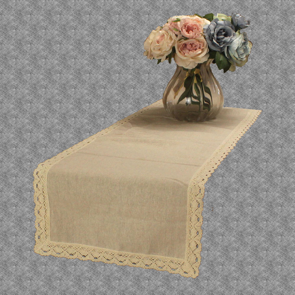 Chemin de table dentelle beige