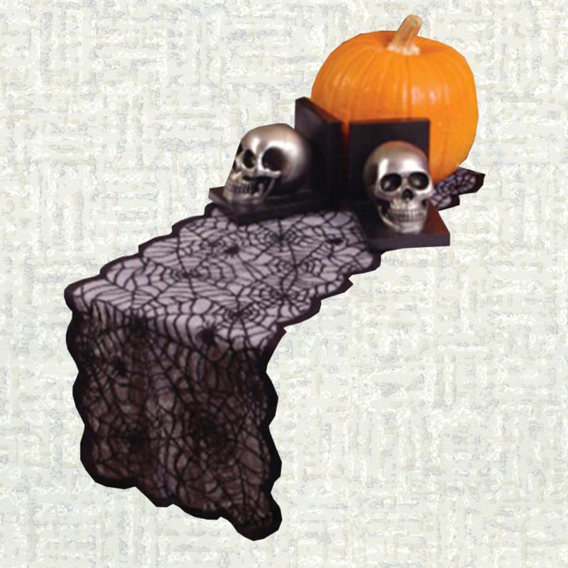 Chemin de table halloween dentelle noire
