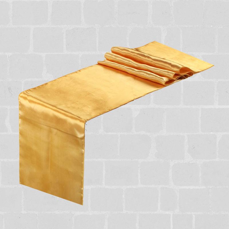 Chemin de table satin doré