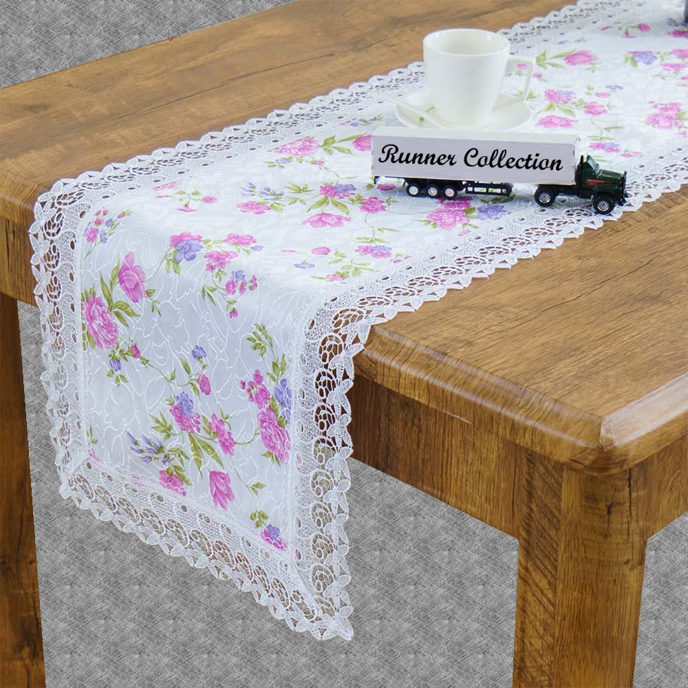 Chemin de table tissu dentelle