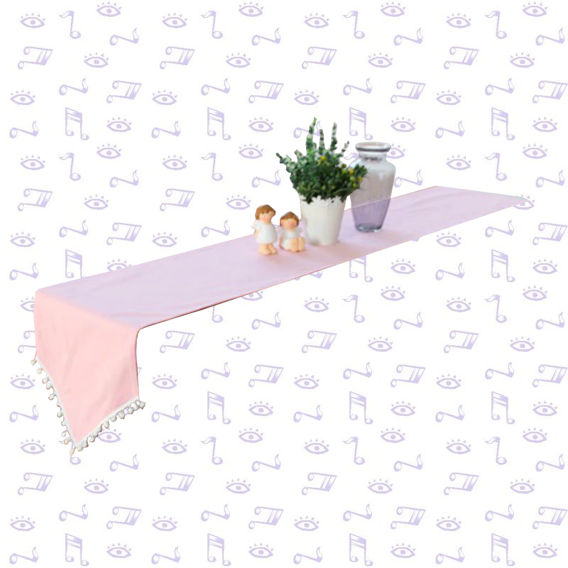 Chemin de table bapteme rose