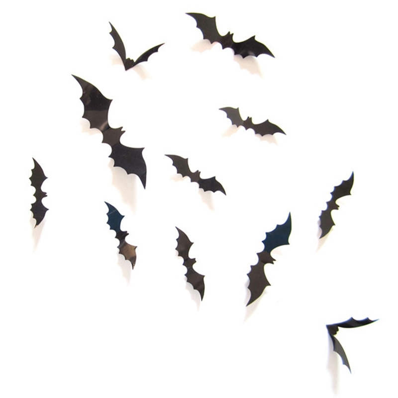 Décoration halloween chauve souris (x12)
