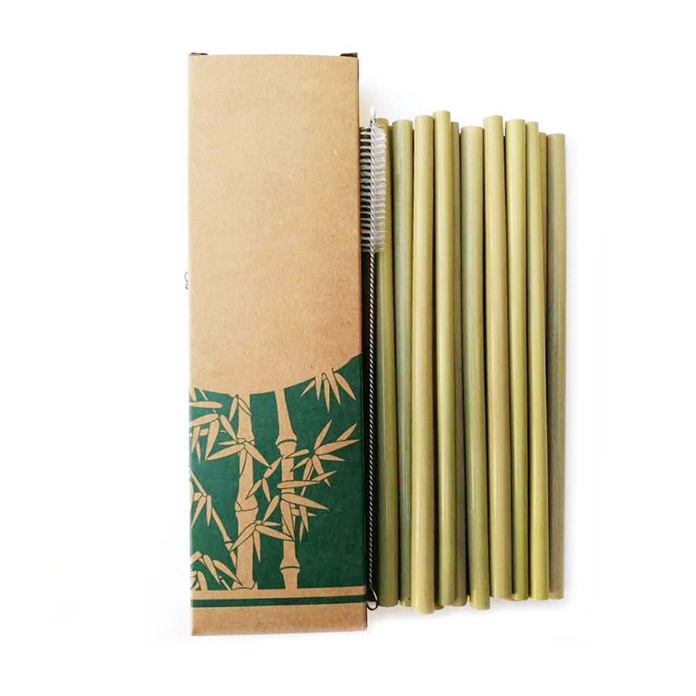 Pailles en bambou réutilisables (x10)