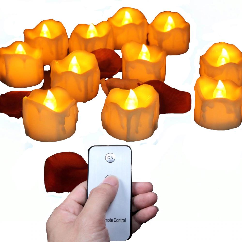 Bougie led flamme vacillante avec télécommande