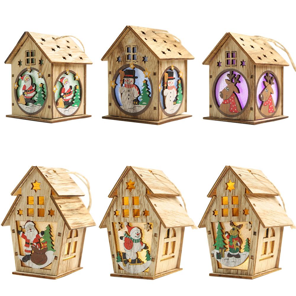 Photophore maison de Noël