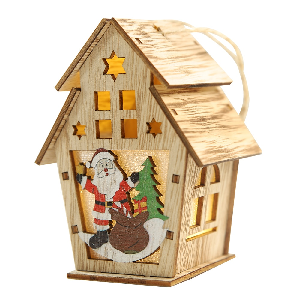 Photophore maison Noël