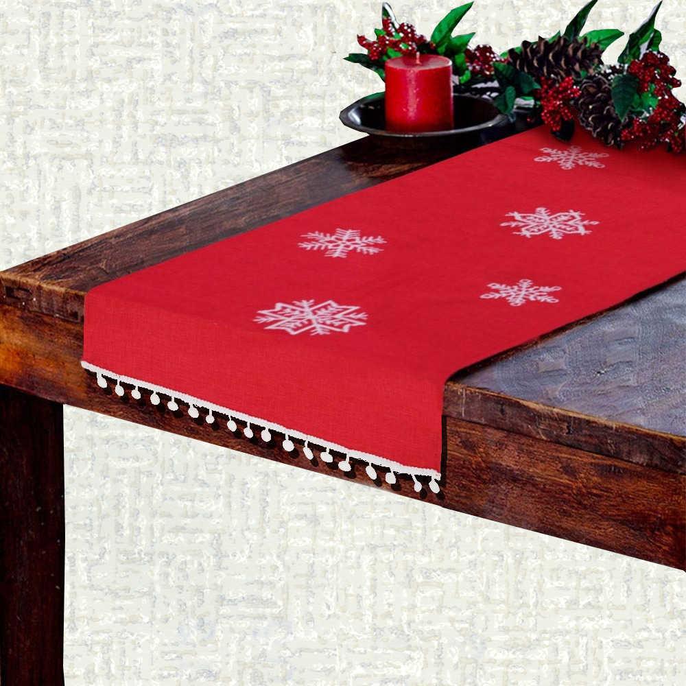 Chemin de table Noël flocon de neige