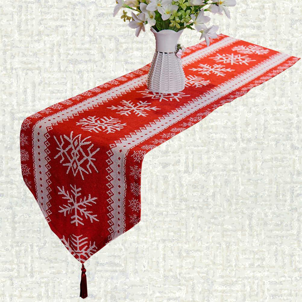 Chemin de Table Noël neige
