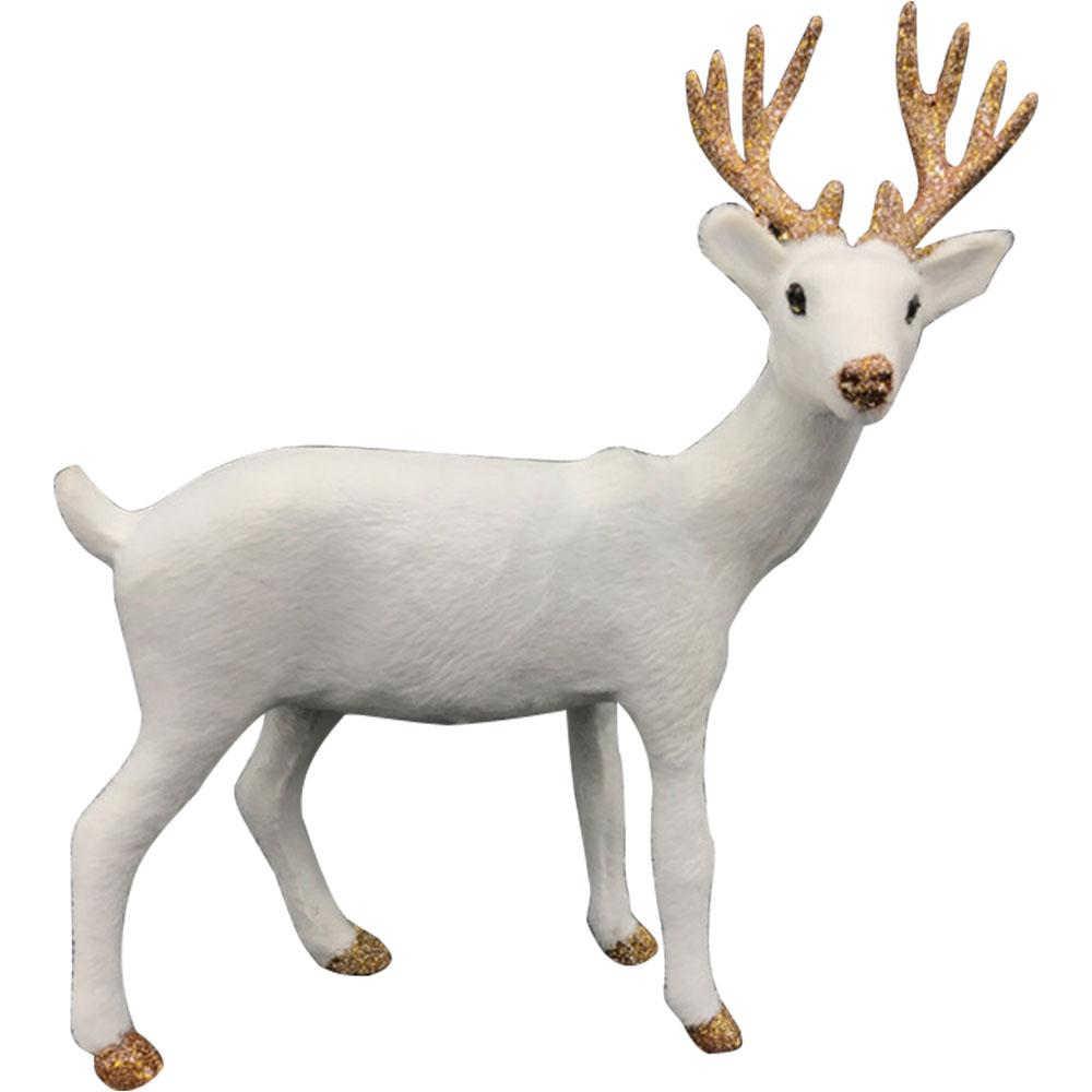 Décoration de table renne Blanc