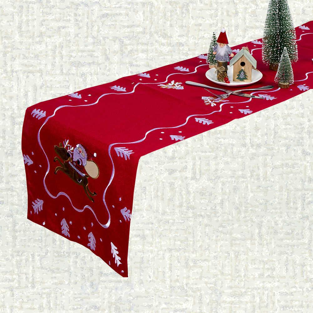 Chemin de table Noël bordeaux