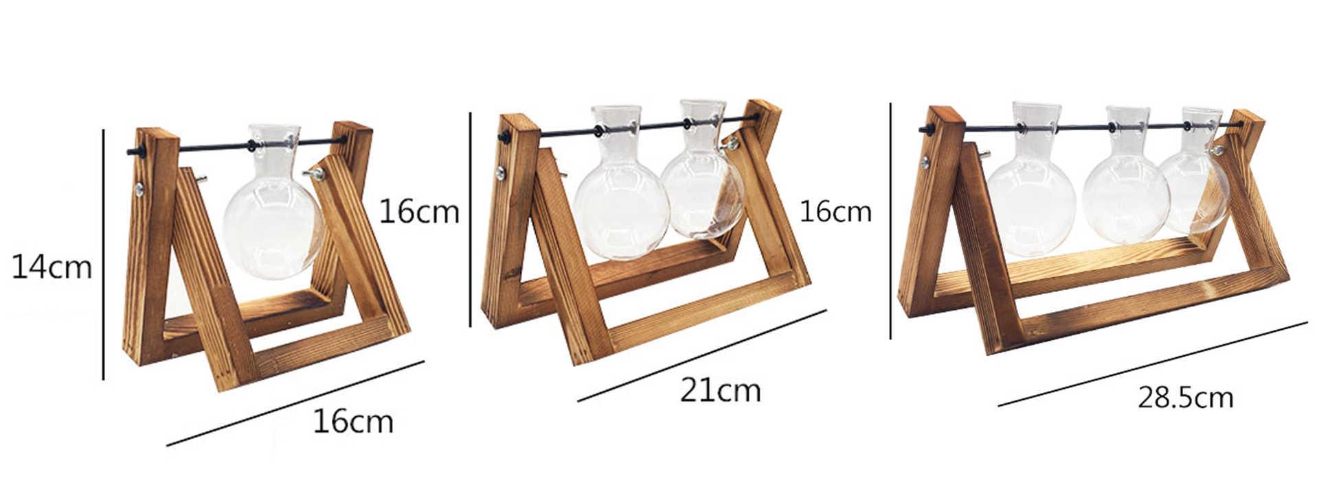 Dimensions d'un vase pour déco de table modèle trétau bois