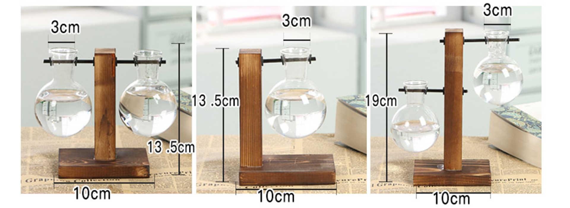 Dimensions d'un vase pour déco de table modèle piédestal bois