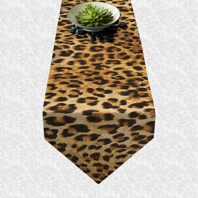 Chemin de table léopard