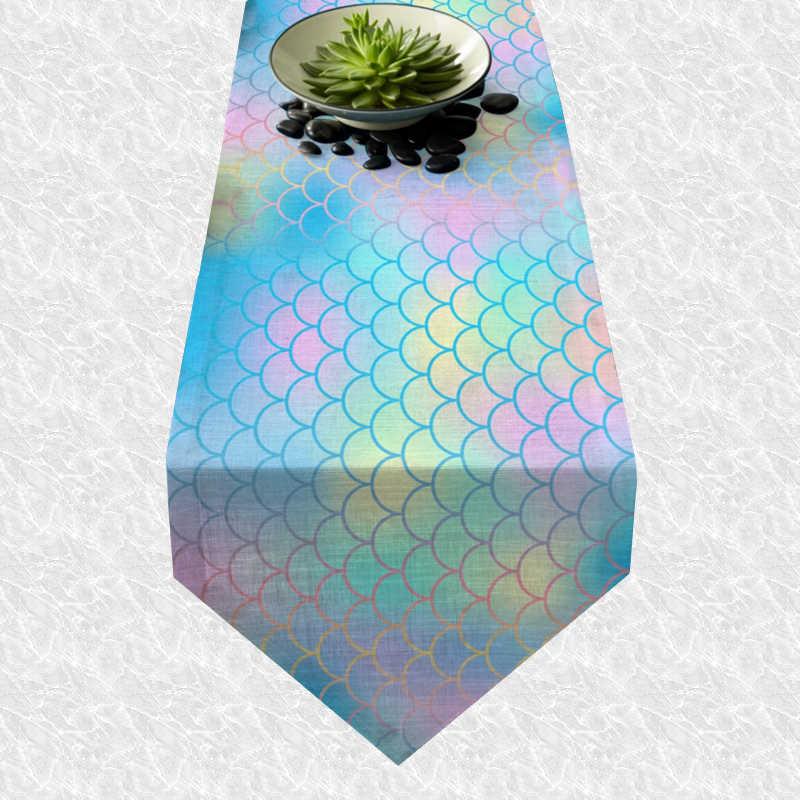 Chemin de table sirène multicolore