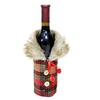 decoration-de-bouteille-manteau-ecossais-tartan