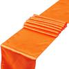 chemin-de-table-satin-orange-mariage-bapteme