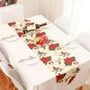 No-l-Polyester-Table-drapeau-imprim-lit-drapeau-serviette-chemin-de-Table-nappe-f-te-fournitures
