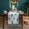 chemin-de-table-foret-vert-bleu