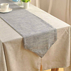 chemin-de-table-coton-gris-matiere-naturelle