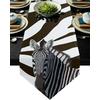 chemin-de-table-zebre-raye-marron