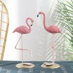 deco-de-table-flamant-rose-statuette-anniversaire