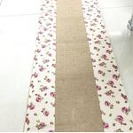chemin-de-table-toile-de-jute-vintage-champetre-petites-fleurs