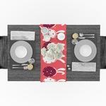 chemin-de-table-paques-oeufs-lapins-roses-moderne