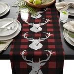 chemin-de-table-noel-rennes-blancs-carreaux